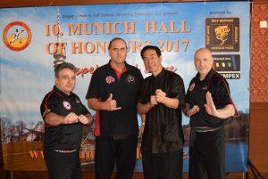 Die drei Gründer des Kajukenbo WHKD Ohana mit GM Samuel Kwok